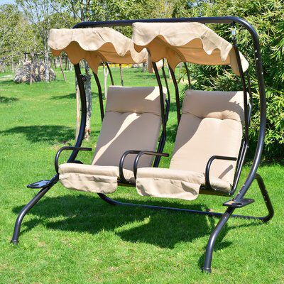 Northbrook Porch Swing With Stand | Outdoor Patio Swing Regarding 2 Person Hammock Porch Swing Patio Outdoor Hanging Loveseat Canopy Glider Swings (View 6 of 20)