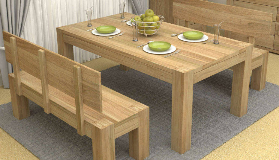 Oak Funky Retro Dining Table Seats Furniture Rustic Room Within Fashionable Chrome Contemporary Square Casual Dining Tables (#14 of 20)