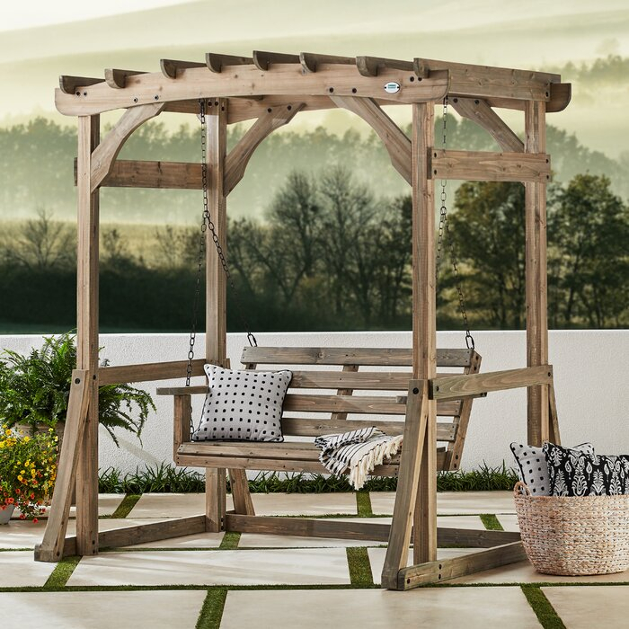 Popular Photo of Pergola Porch Swings With Stand