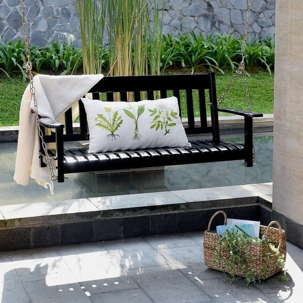 Online Shopping – Bedding, Furniture, Electronics, Jewelry Regarding Casualthames Black Wood Porch Swings (View 5 of 20)