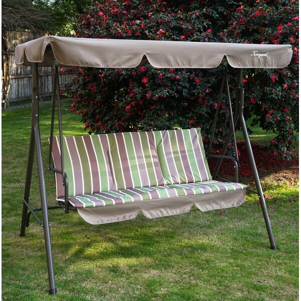 Otterburn Patio Porch Swing With Stand Intended For Patio Porch Swings With Stand (View 9 of 20)