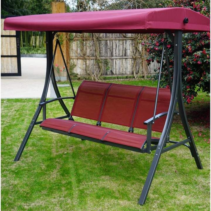 Otteridge Patio Porch Swing With Stand In 2019 | Products Within Patio Porch Swings With Stand (View 7 of 20)