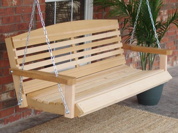Our American Ceder Porch Swing Features A Contoured Seat For Inside Contoured Classic Porch Swings (View 10 of 20)