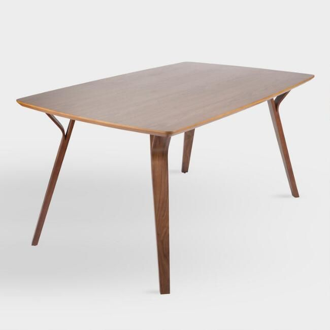 Our Joel Dining Table Has An Inviting Mid Century Design Within Widely Used Mid Century Rectangular Top Dining Tables With Wood Legs (View 2 of 20)
