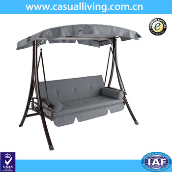 Outdoor 2 Person Canopy Swing Glider Hammock Patio Furniture Daybed Patio  Swing In Charcoal And Grey – Buy Hammock Swing,2 Person Hammock With 2 Person Gray Steel Outdoor Swings (#10 of 20)
