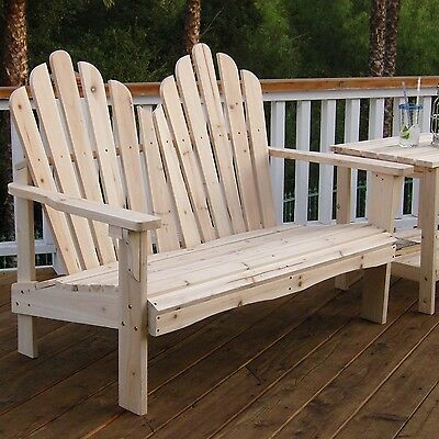 Outdoor Cedar Wood Garden Bench In Natural With 475lbs With Regard To Cedar Colonial Style Glider Benches (View 18 of 20)