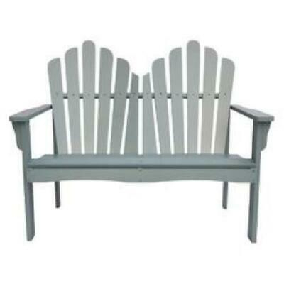 Outdoor Cedar Wood Garden Bench Loveseat In Dutch Blue Intended For Cedar Colonial Style Glider Benches (View 17 of 20)