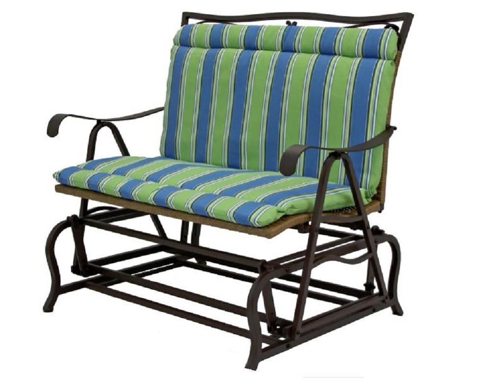 Outdoor Double Glider Cushion All Weather And 48 Similar Items Within Double Glider Benches With Cushion (#14 of 20)