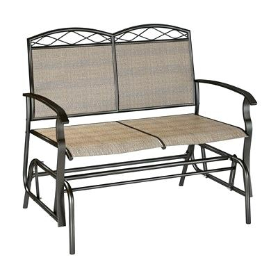 Outdoor Double Glider Rocker Plans Patio G – Techvay Regarding Padded Sling Double Glider Benches (View 18 of 20)