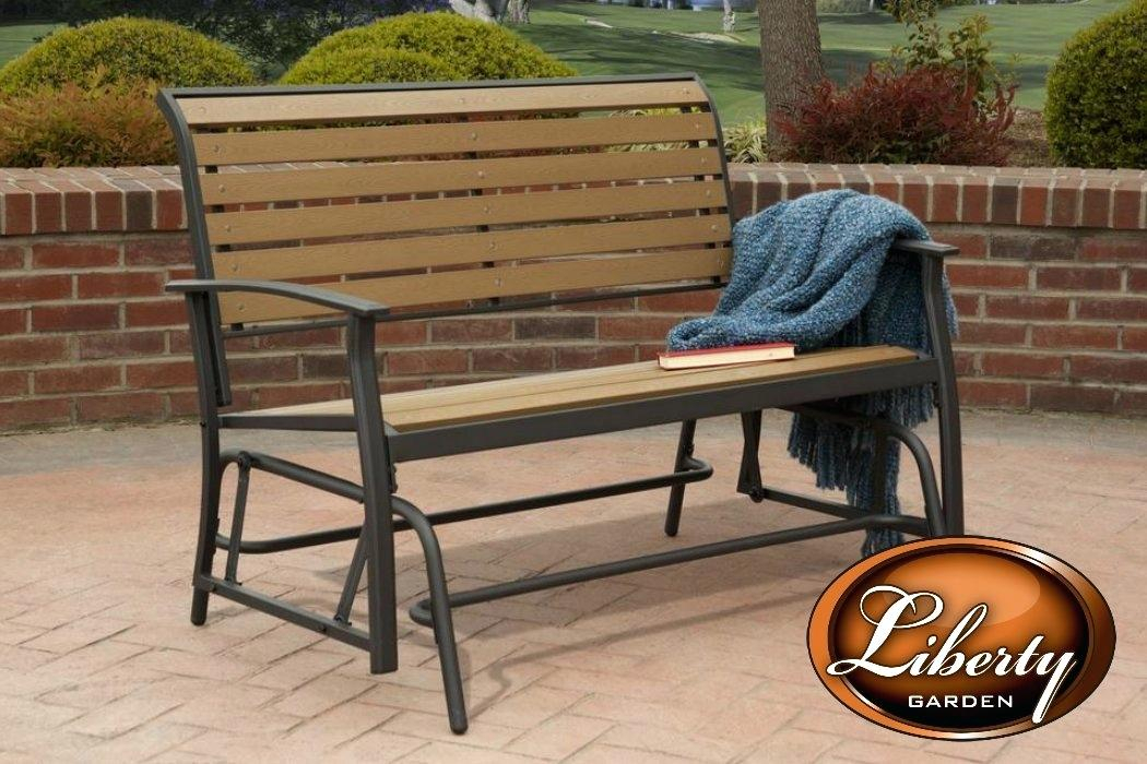 Outdoor Double Glider – Techvay For Speckled Glider Benches (View 14 of 20)