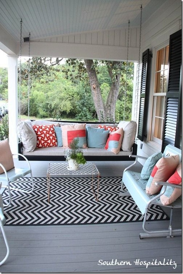 Outdoor Furniture: Porch Swings & Gliders | Artisan Crafted Intended For Lamp Outdoor Porch Swings (View 18 of 20)