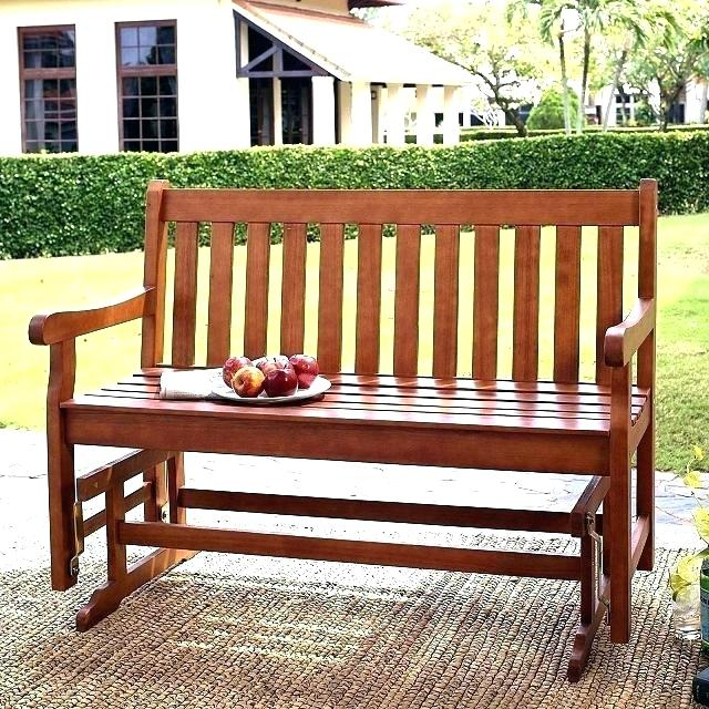 20 Inspirations of Teak Outdoor Glider Benches