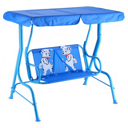 Outdoor Kids Patio Swing Bench With Canopy 2 Seats Throughout Porch Swings With Canopy (#11 of 20)