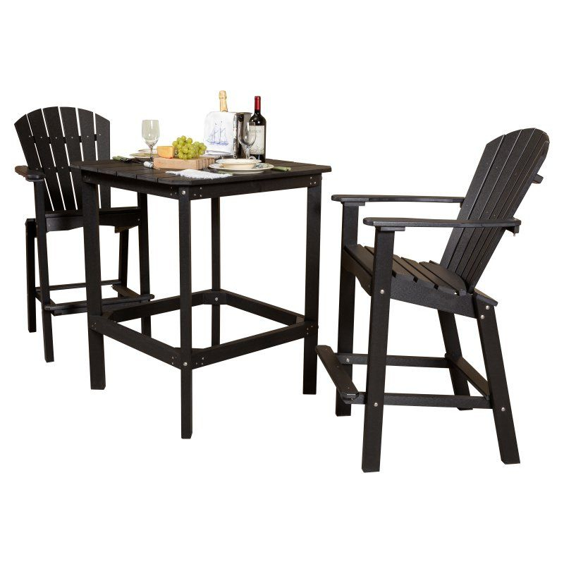 Outdoor Little Cottage Classic Recycled Plastic 3 Piece Inside Favorite Patio Square Bar Dining Tables (View 11 of 20)