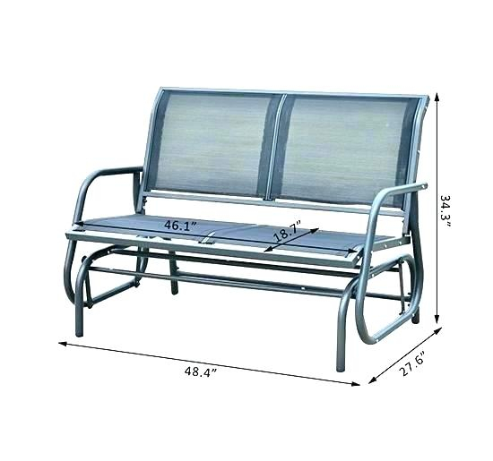 Outdoor Metal Rocker – Utahcorporateresponsibility Within Iron Double Patio Glider Benches (View 11 of 20)