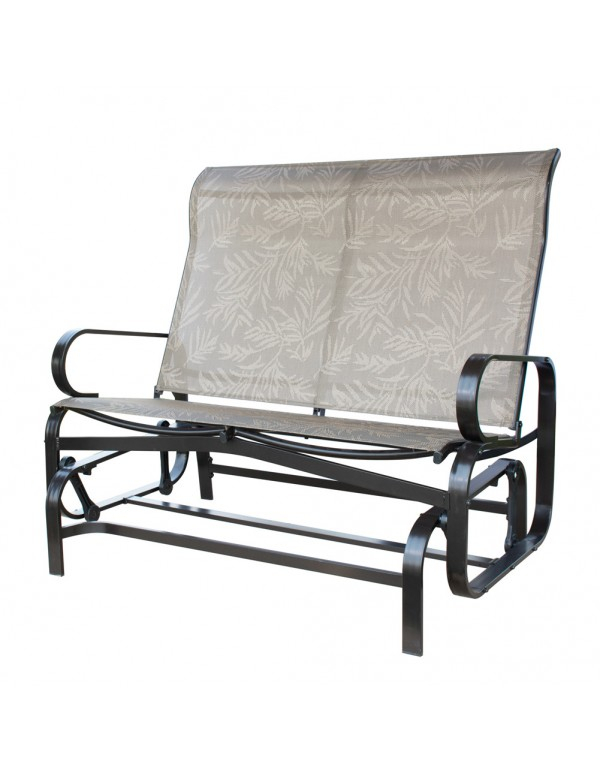 Outdoor Patio Glider Bench Double 2 Person Rocking Porch Regarding Iron Double Patio Glider Benches (View 12 of 20)