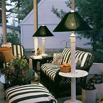 Outdoor Patio Lamp | Floor & Table Waterproof With Regard To Lamp Outdoor Porch Swings (View 11 of 20)