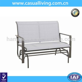 Outdoor Patio Swing Steel Love Glider Bench,4 Feet,teslin – Buy Glider Rocking Chair,love Glider,glider Rocker Product On Alibaba Intended For Outdoor Steel Patio Swing Glider Benches (View 7 of 20)