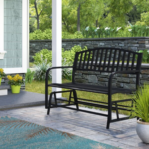 Outdoor Porch Glider Bench | Wayfair Intended For Indoor/outdoor Double Glider Benches (View 14 of 20)