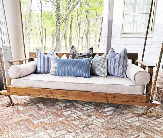 Outdoor Porch Swing Mattress Cover Twin Mattress Cover Indoor Outdoor Tan  Porch Daybed Mattress Cover Day Bed Sheet Linen Crib Size Mattress Pertaining To Day Bed Porch Swings (#16 of 20)