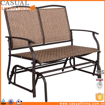 Outdoor Swing Glider For 2 Person Patio Loveseat Bench Rocking Chair – Buy Outdoor Glider Chair,patio Loveseat Bench Rocking Chair,outdoor Swing Throughout 2 Person Loveseat Chair Patio Porch Swings With Rocker (View 8 of 20)