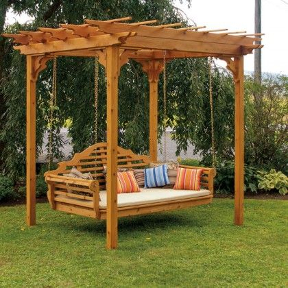 Outdoor Swings | Porch Swing, Porch Swing Bed, Swing Bed For Pergola Porch Swings With Stand (#8 of 20)