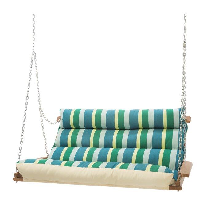 Pacheco Deluxe Sunbrella Porch Swing In Deluxe Cushion Sunbrella Porch Swings (#12 of 20)