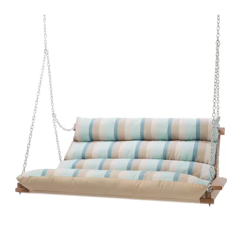 Popular Photo of Deluxe Cushion Sunbrella Porch Swings