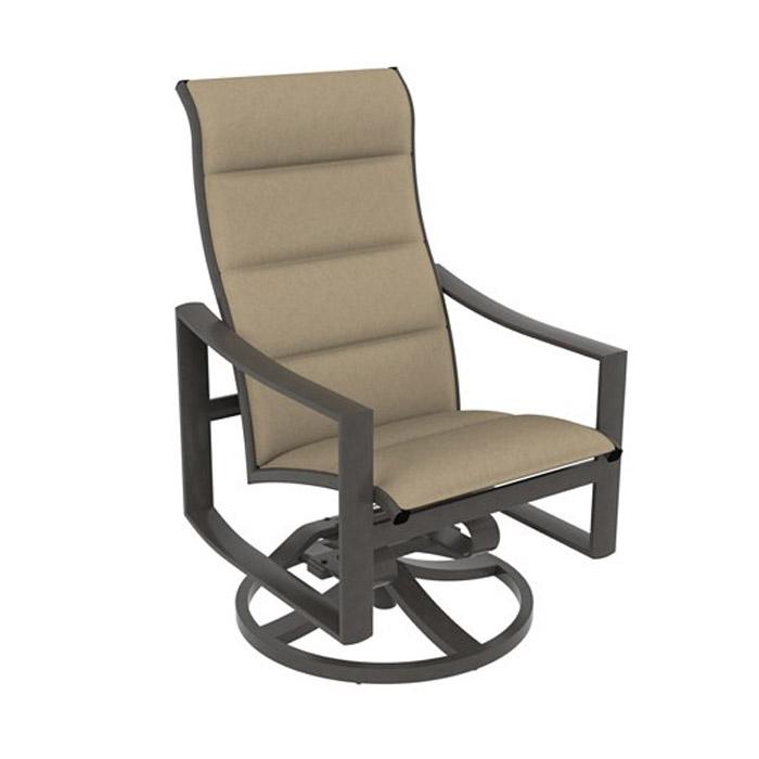 Padded Sling High Back Swivel Rocker   Fishbecks Patio In Padded Sling High Back Swivel Chairs (#9 of 20)