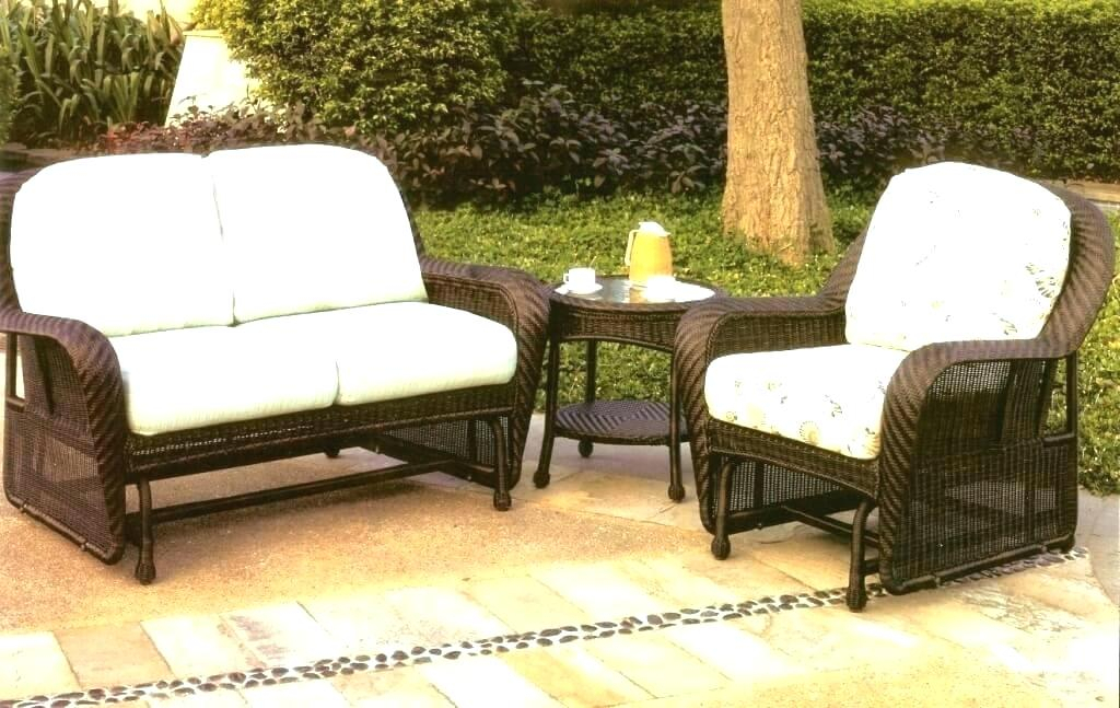 Patio Double Glider – Sigpot In Double Glider Benches With Cushion (#17 of 20)