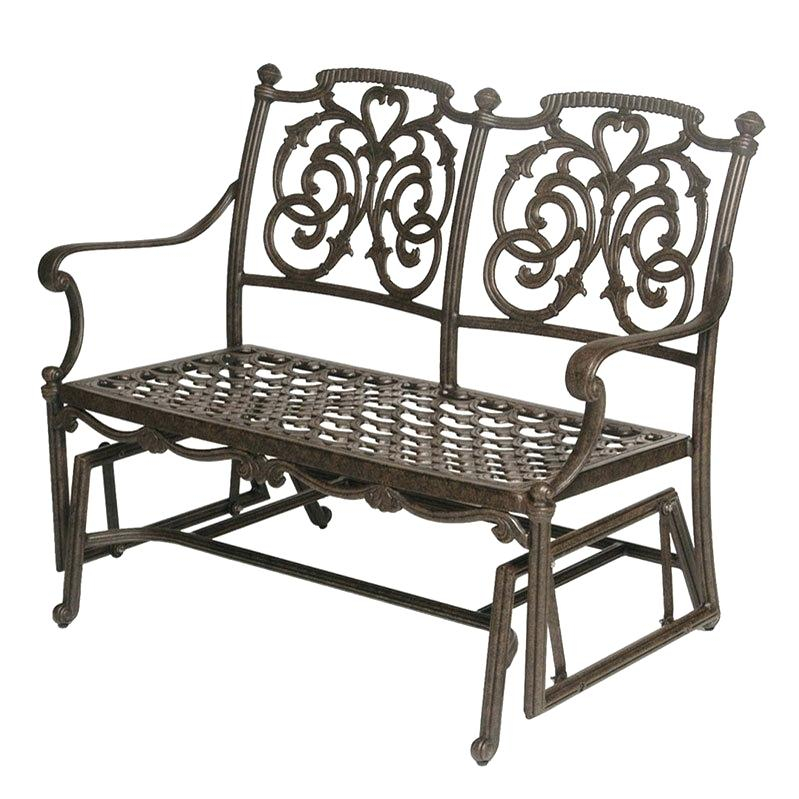 Patio Double Glider – Sigpot Inside Iron Double Patio Glider Benches (View 15 of 20)