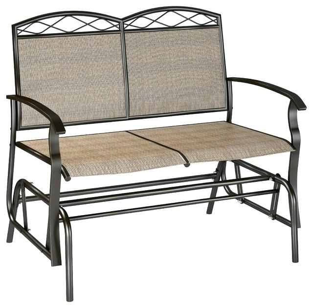 Patio Double Glider – Sigpot Within Iron Double Patio Glider Benches (View 17 of 20)