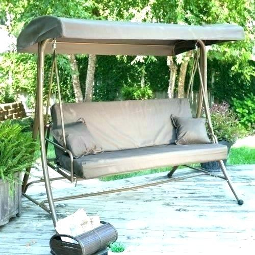 Patio Furniture Swings And Gliders – Sigpot Throughout Patio Glider Hammock Porch Swings (#12 of 20)