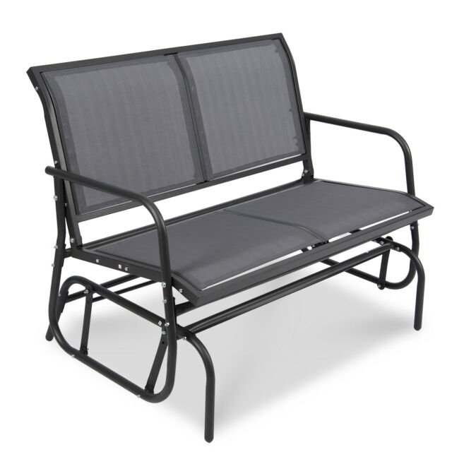 Patio Garden Glider 2 Person Swing Bench Rocking Chair Porch Outdoor Furniture Pertaining To 2 Person Loveseat Chair Patio Porch Swings With Rocker (View 5 of 20)