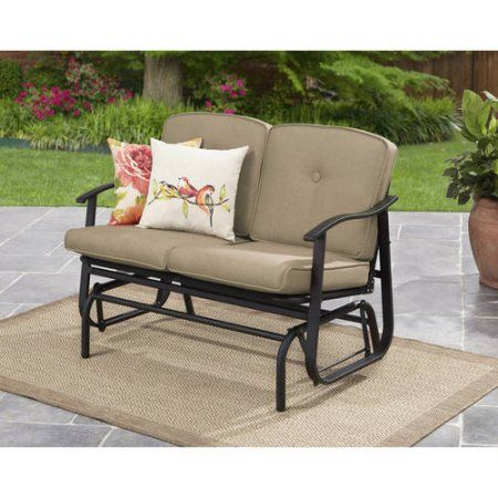 Patio & Garden | Outdoor Loveseat, Outdoor Glider, Outdoor With 2 Person Outdoor Convertible Canopy Swing Gliders With Removable Cushions Beige (View 19 of 20)