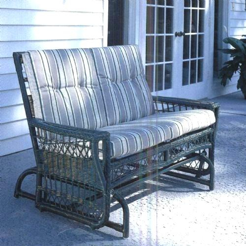 Patio Glider Cushions Browsefurniture Loves On Com Within Rocking Glider Benches With Cushions (View 6 of 20)