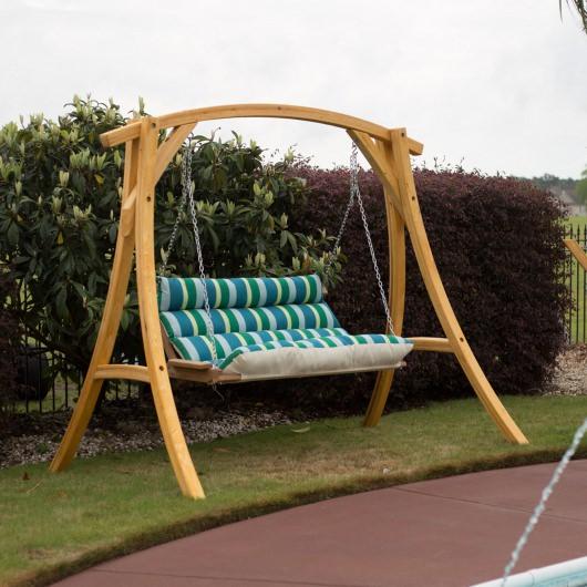 Patio Seating Hatteras Hammocks Deluxe Sunbrella Cushioned Regarding Deluxe Cushion Sunbrella Porch Swings (#15 of 20)