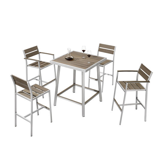 Patio Square Bar Dining Tables For Well Liked China Restaurant Patio Square Bar Set Garden Outdoor Bistro (View 14 of 20)