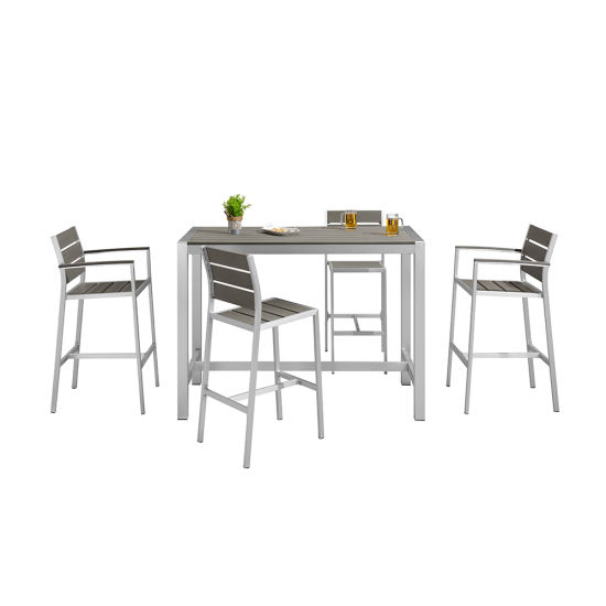 Patio Square Bar Dining Tables With 2019 China Restaurant Patio Square Bar Set Garden Outdoor Bistro (View 16 of 20)