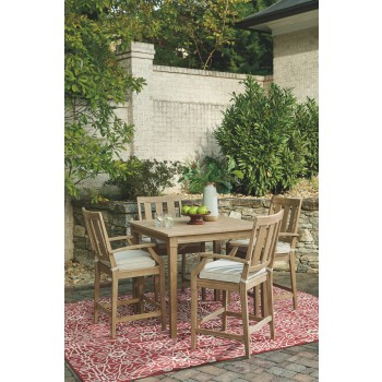 Patio Square Bar Dining Tables Within Preferred Clare View – Beige – Square Bar Table (View 18 of 20)