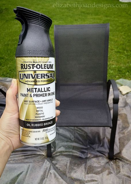 Patio Update On A Tiny Budget | Painting Patio Furniture In 2 Person Hammered Bronze Iron Outdoor Swings (View 17 of 20)