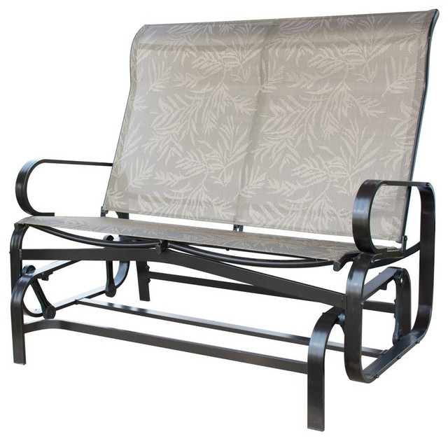 Popular Photo of 2 Person Loveseat Chair Patio Porch Swings With Rocker