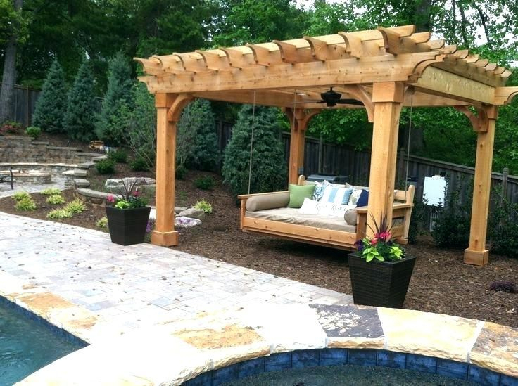 Pergola With Swing Plans Porch Swing Pergola Pergola And Intended For Pergola Porch Swings With Stand (#9 of 20)