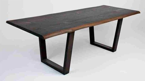 Pin On Modern Regarding Fashionable Dining Tables In Smoked Seared Oak (#15 of 20)