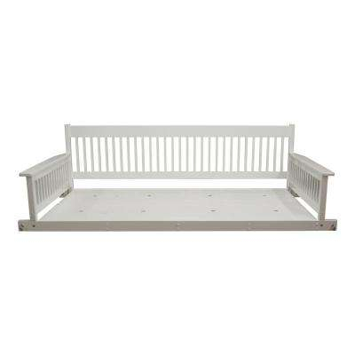 Plantation 2 Person Daybed White Wooden Porch Patio Swing For Casualthames White Wood Porch Swings (View 20 of 20)