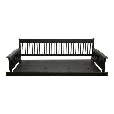 Plantation 2 Person Daybed Wooden Black Porch Patio Swing In Casualthames Black Wood Porch Swings (View 7 of 20)
