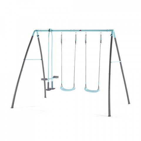 Plum Metal Double Swing & Glider With Mist Feature Playset Intended For Dual Rider Glider Swings With Soft Touch Rope (#14 of 20)