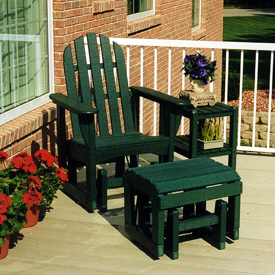 Polywood Adirondack Glider Chair Throughout Classic Adirondack Glider Benches (View 18 of 20)
