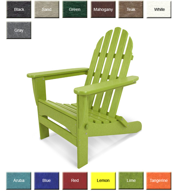 Polywood® Classic Adirondack Chair Inside Classic Adirondack Glider Benches (View 17 of 20)
