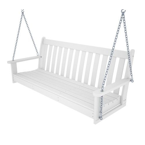 Polywood Outdoors Vineyard Polywood Porch Swing Bench – From Throughout Vineyard 2 Person Black Recycled Plastic Outdoor Swings (View 6 of 20)
